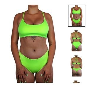 Hoaka Neon Green Swimset